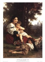 Mother and Children Fine Art Print