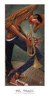 "Mr. Brass by David Garibaldi - 18"" x 36"", FulcrumGallery.com brand"