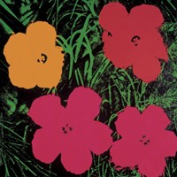 "Flowers (1 red, 1 yellow, 2 pink), 1964 by Andy Warhol, 1964 - 38"" x 38"""