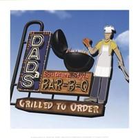 Dad's Southern Style Bar-B-Q Fine Art Print
