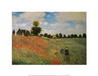 "Wild Poppies by Claude Monet - 14"" x 11"""
