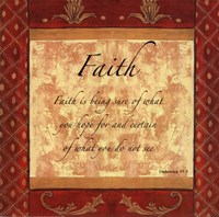 Words to Live By, Traditional - FAITH Fine Art Print