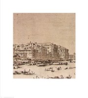 Grand Canal Beyond Rialto Fine Art Print