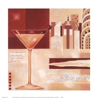 "Manhattan Cocktails by Lucy Barnard - 12"" x 12"""