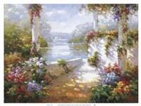 Lakeside Pergola Fine Art Print