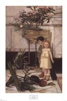The Broken Flower Pot, 1876 Fine Art Print