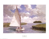 Catboat Through the Marsh Fine Art Print