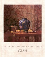 Oriental Vase with Crab Apples Fine Art Print