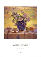 "White Roses by Del Gish - 20"" x 28"""