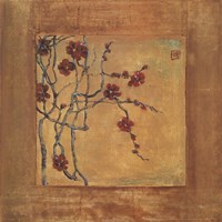 "Chinese Blossoms I by Jill Barton - 19"" x 19"""