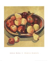 Apple Bowl I Fine Art Print