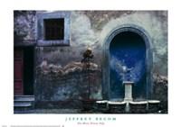 Blue Alcove, Orvieto, Italy Fine Art Print