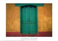 "Turquoise Lintel, San Juan Ostuncalco, Guatemala by Jeffrey Becom - 27"" x 19"""