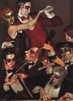 Tango Red Tie Fine Art Print