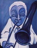 Blue Jazzman III Framed Print