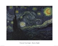 The Starry Night, c.1889 Framed Print