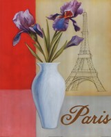 "Paris Floral Views by William Verner - 16"" x 20"", FulcrumGallery.com brand"