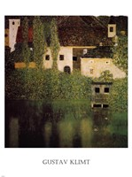 Unterach Manor and Lock Chamber on the Attersee Lake, c.1908 Fine Art Print