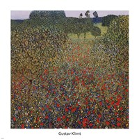 Field of Poppies, 1907 by Gustav Klimt, 1907 - various sizes