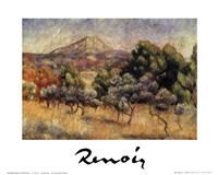 """Le Mont St. Victoire by Pierre-Auguste Renoir - 12"""" x 10"""""""