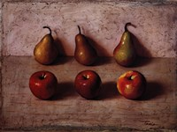 3 Apples and 3 Pears Fine Art Print