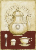 Caffe Latte and Cupcake Fine Art Print