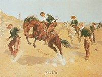 "Turn Him Loose, Bill by Frederic Remington - 11"" x 9"""