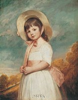 """Miss Willoughby by George Romney - 9"""" x 11"""""""