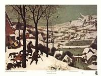 Winter/Hunters in the Snow Fine Art Print