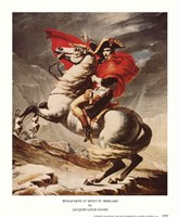 "Bonaparte at Mont St. Bernard by Jacques-Louis David - 9"" x 11"", FulcrumGallery.com brand"