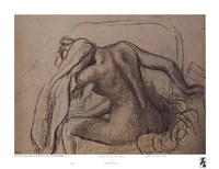 """Woman Drying Her Neck by Edgar Degas - 11"""" x 8"""""""