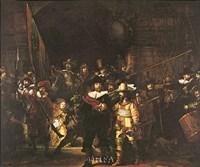 """Night Watch by Rembrandt van Rijn - 10"""" x 9"""""""