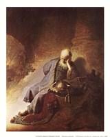 """The Prophet Jeremiah by Rembrandt van Rijn - 9"""" x 11"""" - $10.49"""