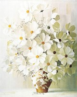 White Bouquet Fine Art Print