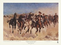 "Dismounted: The Fourth Troopers by Frederic Remington - 11"" x 8"""