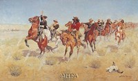 "Halt-Dismount by Frederic Remington - 11"" x 7"""