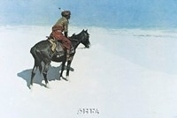 "The Scout: Friends or Enemies by Frederic Remington - 11"" x 8"""