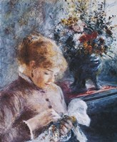 Lady Sewing Fine Art Print