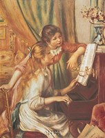 """Two Girls at the Piano by Pierre-Auguste Renoir - 8"""" x 11"""""""