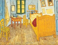 "Bedroom at Arles by Vincent Van Gogh - 11"" x 9"""