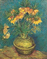 """Bell Lilies in a Copper Vase by Vincent Van Gogh - 9"""" x 11"""""""