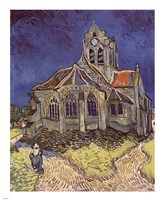 The Church at Auvers, c.1890 Fine Art Print