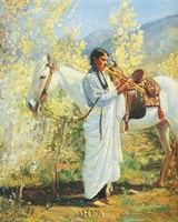 The Flute Player Fine Art Print