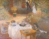"Luncheon in the Garden by Claude Monet - 11"" x 9"" - $10.49"