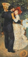 "Dance in the Country by Pierre-Auguste Renoir - 6"" x 11"""