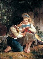 """A Special Moment, 1874 by Emile Munier, 1874 - 8"""" x 11"""""""