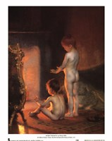 After the Bath, 1890 Framed Print