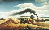 Threshing Wheat Fine Art Print