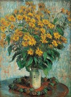 "Vase of Chrysanthemums by Claude Monet - 8"" x 11"" - $10.49"