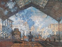 "La Gare Saint-Lazare by Claude Monet - 11"" x 9"""